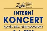ÚTERÝ 9. 1. 2018: INTERNÍ KONCERT (KLAVÍR, ZPĚV, FLÉTNY, SAXOFONY)