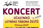 Koncert účastníků Letního tábora žesťů - Křinice 2014