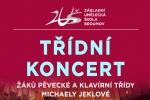 PONDĚLÍ 9. 12. 2019: TŘÍDNÍ KONCERT PĚVECKÉ A KLAVÍRNÍ TŘÍDY - žáci M. Jeklové