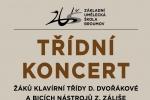 PONDĚLÍ 9. 12. 2019: TŘÍDNÍ KONCERT - KLAVÍR, BICÍ - žáci D. Dvořákové a Z. Záliše