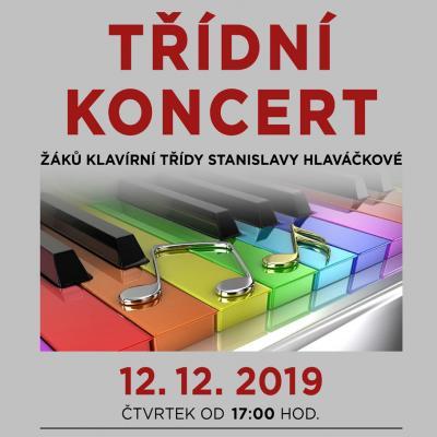 ČTVRTEK 12. 12. 2019: TŘÍDNÍ KONCERT, Meziměstí - žáci S. Hlaváčkové