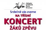 Třídní žákovský koncert - zpěv / saxofon
