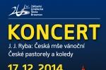 Vánoční koncert v Broumově 17. 12. 2014