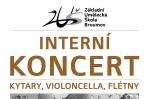 8. 6.: INTERNÍ KONCERT - kytary, violoncella, flétny