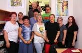 žáci VO zleva: O.Peitnerová, M.Kroulová, M.Kuřátková, R.Jehličková, J.Hrábková, J.Rýdl, V.Žáková, J.Vysoká, N.Trnovcová